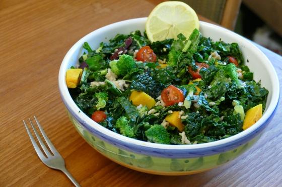 mixed kale salad