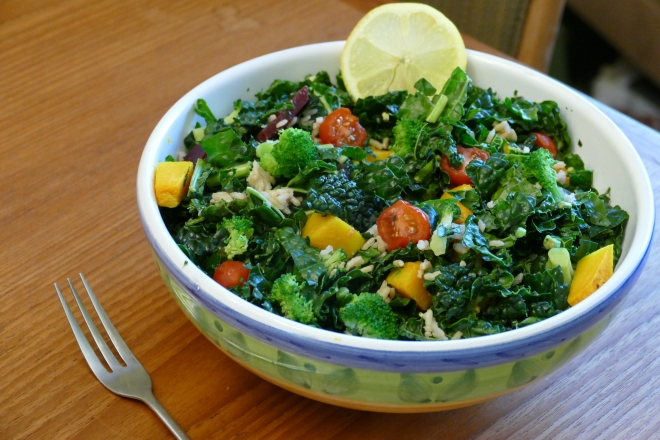 mixed kale salad