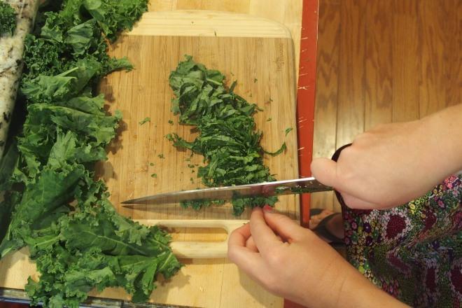 Chiffonade that kale!