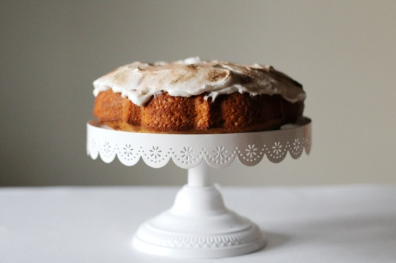 Sweet Potato Bundt Cake with marshmallow topping